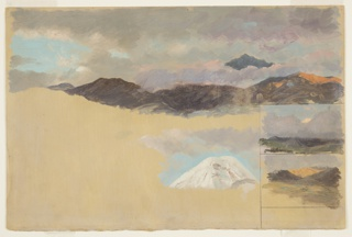 Drawing, Studies of Mount Chimborazo, Ecuador