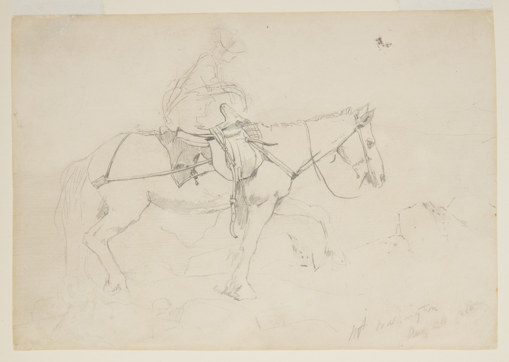 """Drawing, Study for """"The Bridle Path, White Mountains"""""""