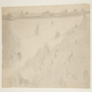 Drawing, Study for 'Rocky Coast and Gulls'