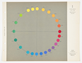 Book, Hesselgren's Colour Atlas: Colour Manual, 1953