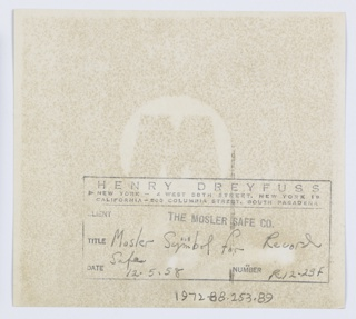 """The work of Henry Dreyfuss, constantly focused on the needs of the average consumer, had a profound impact on the daily lives of millions of Americans. His firm had hundreds of clients (American Airlines, A T & T, Deere & Company, Hallmark Cards Incorporated, Polaroid Corp.) and worked on thousands of items. The material included in this archive does not cover all clients and projects undertaken by Dreyfuss. This collection consists of theater design materials, industrial design materials, primarily, though not exclusively, from the 1950s and 60s, draft copies of his books, including extensive research files for the """"Symbol Soursebook"""", texts of lectures delivered by Dreyfuss, and biographical material. Included is Dreyfuss's Brown Book which provides an outline of his achievements. Photographs and slides of many of his designs are included. Materials relating to three publications include original drafts of the books with author notes, drawings, photographs, correspondence, and research materials. Also contains materials relating to the symbols exhibition held at the Hallmark Gallery in New York City in 1972. 311 reels of microfilm documenting most of the projects undertaken by Dreyfuss Associates were created by the firm and added to the collection later.  Materials are arranged into four record group: 1) Biographical information; 2) Theater design; 3) Industrial design; 4)Publications."""
