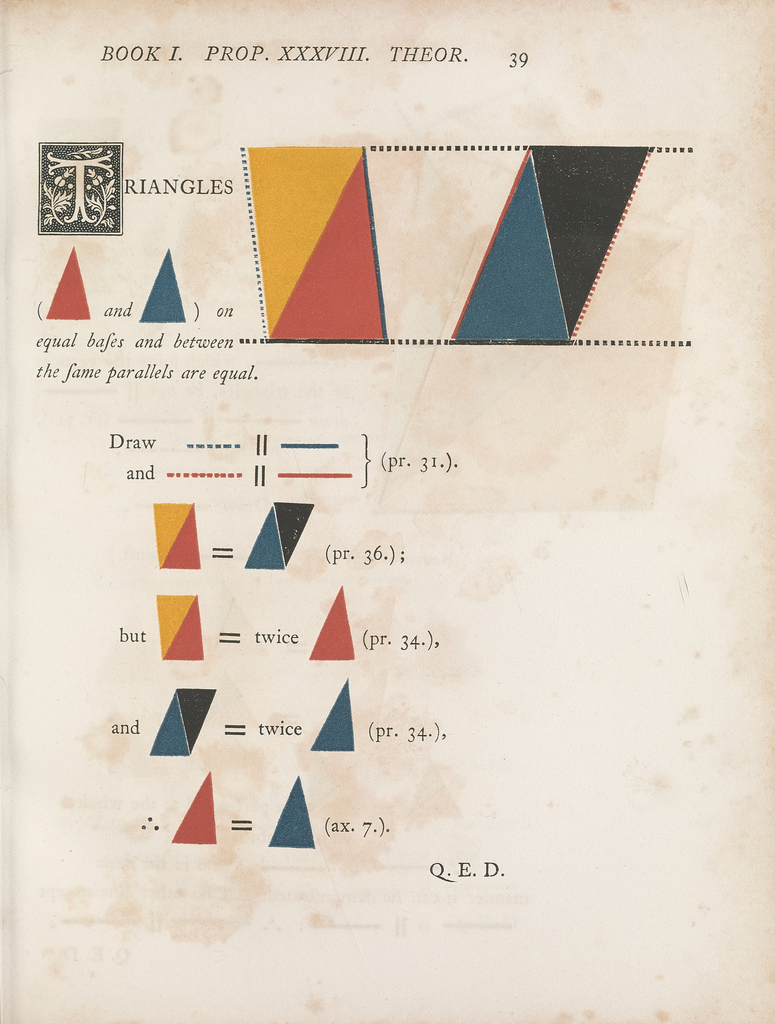 Book, The First Six Books of the Elements of Euclid, 1847
