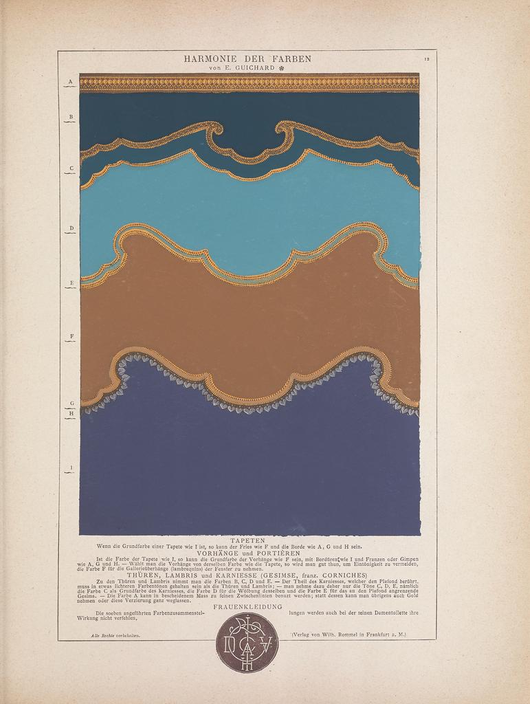 Book, Die Harmonie der Farben (The Harmony of Colors), 1882