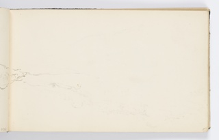 Recto: Sketch of landscape continued from opposite page.
