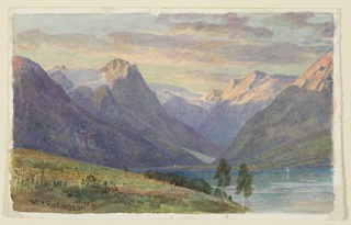 Drawing, Study for landscape, Norway, ca. 1901