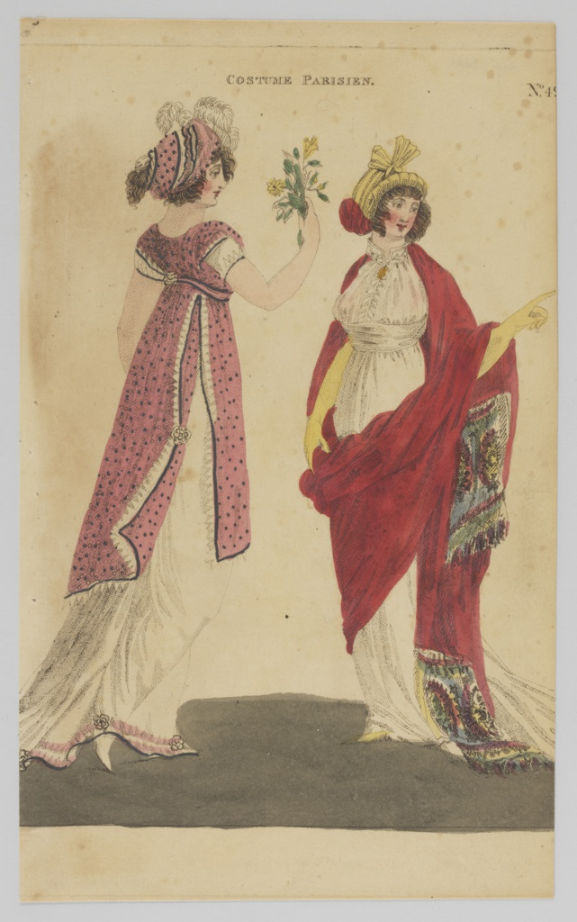 Print, Plate 49, Costume Parisien (Parisian Costume), Magazine of Female Fashion of London and Paris