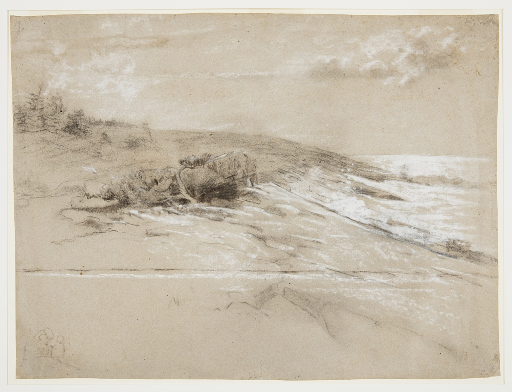 Drawing, Seacoast with Scrub Pines, Prout's Neck, Eastern Point