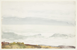Drawing, Ocean Seen from a Cliff, Prout's Neck, Maine