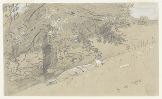 Drawing, Shepherdess Resting Under a Tree