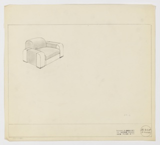 Drawing, Amodec: Armchair, ca. 1933