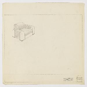 Drawing, Amodec: Armchair, ca. 1933