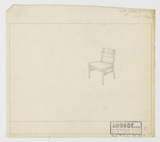 Drawing, Amodec: Sidechair, ca. 1931