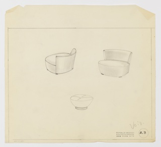 Drawing, Chair & Ottoman, ca. 1937