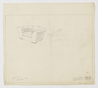 Drawing, Armchair, ca. 1937