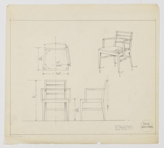 Drawing, Armchair, 1934–1935