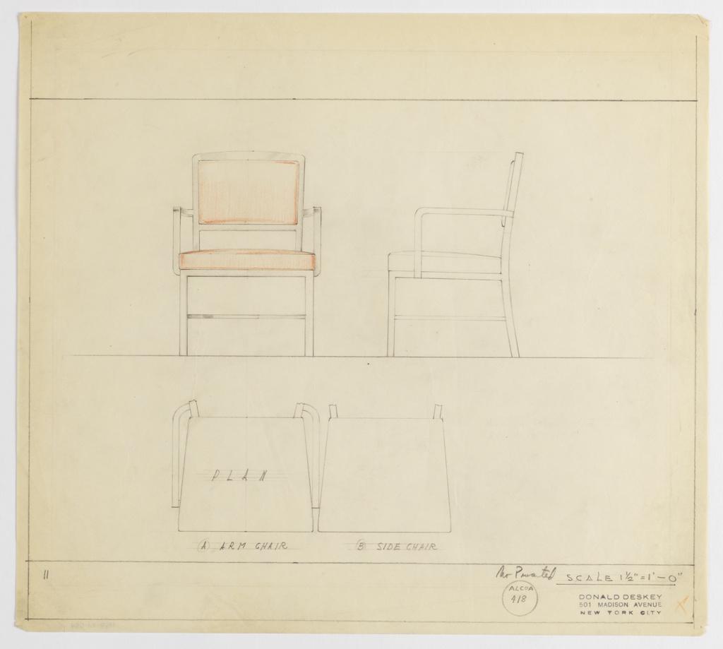 Drawing, Armchair & Sidechair