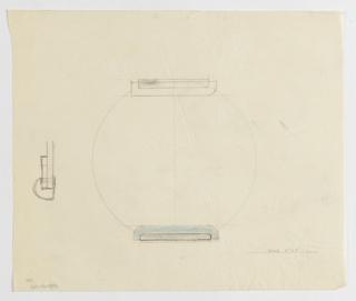 Drawing, Design for Circular Mirror