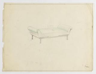 Drawing, Divan, ca. 1934