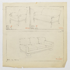 Drawing, Armchair, Loveseat, and S, 1930–1935