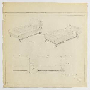 Drawing, Chaise Lounge, ca. 1934