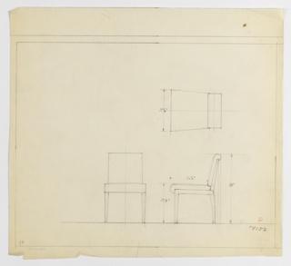 Drawing, Sidechair, ca. 1934