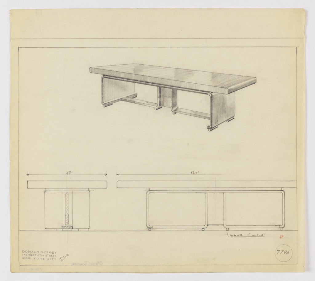 Drawing, Design for Conference Table