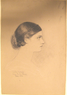 Sophie Huntington shown in right profile.