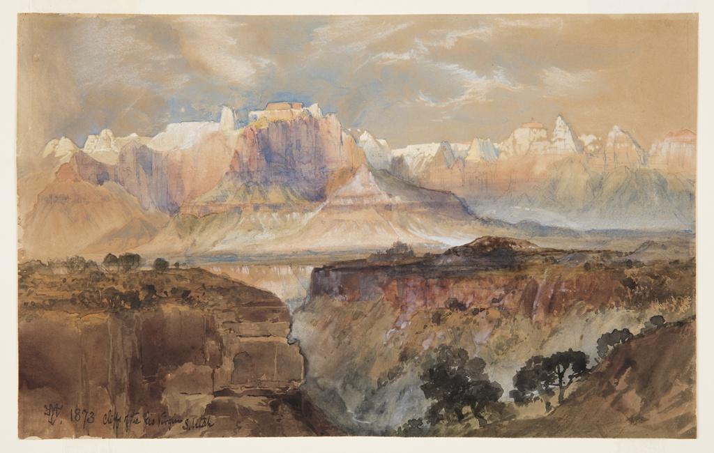 Drawing, Cliffs of the Rio Virgin, South Utah