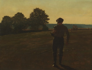 Painting, Man with a Scythe