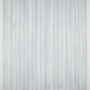 Vertical stripe pattern consisting or irregular textured white stripes on a pale blue-gray ground. The entire surface is coated with a layer of bees wax.