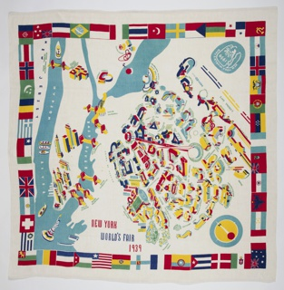 Tablecloth, New York World's Fair, 1939