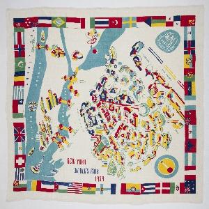Tablecloth, New York World's Fair, 1939