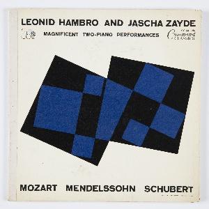Album Cover, Leonid Hambro and Jascha Zayde: Mozart, Mendelssohn, Schubert, 1961