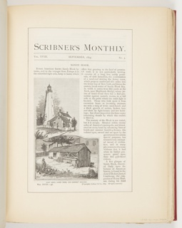 Ephemera, Main Light, Sandy Hook, and Keepers' Hen Coop, Illustrations for Scribner's Monthly (XVIII, No. 5, September 1879, cover)