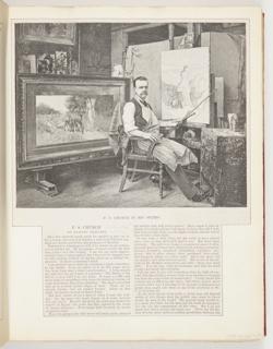 Ephemera, F.S. Church in His Studio, Illustration for Harper's Weekly (XXXVII, No. 1919, September 30, 1893, p. 959)