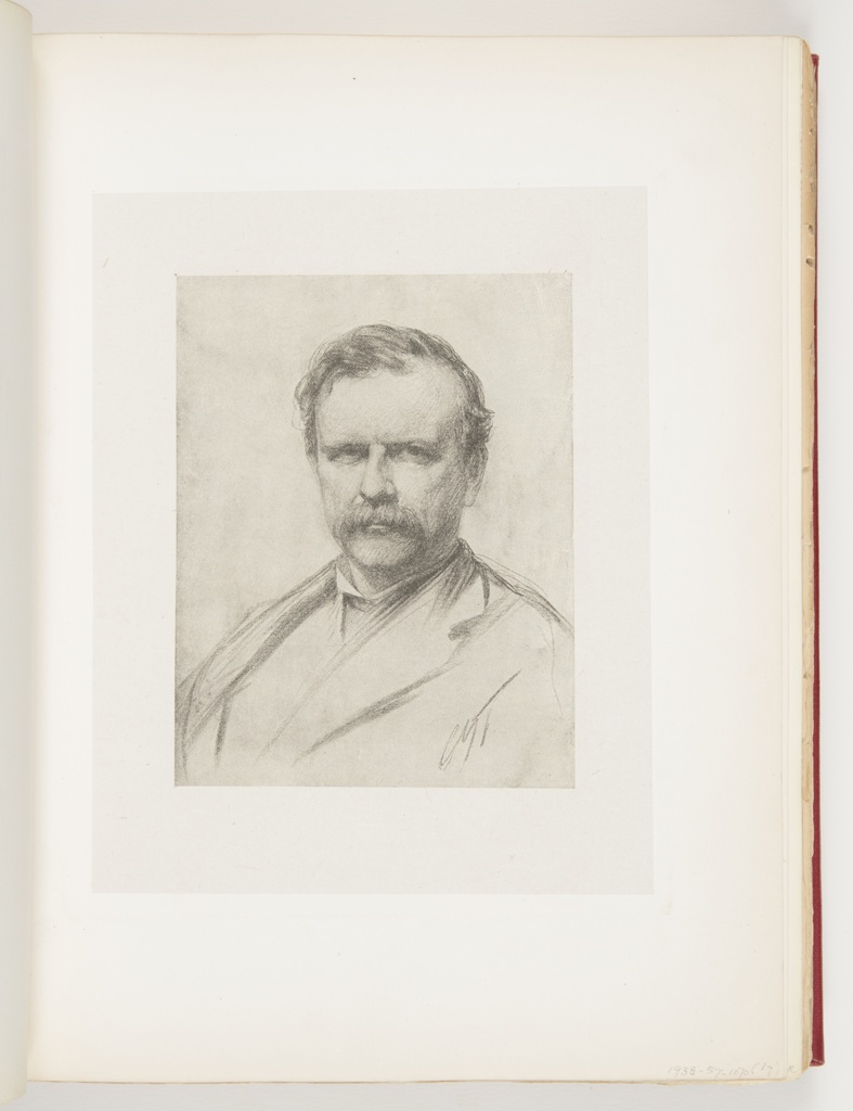 Portrait of Frederick Stuart Church, who looks directly at the viewer.