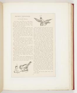 Ephemera, Broken Friendship, Illustration for St. Nicholas Magazine (XXI, No. 5, March 1894, p. 407)