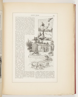Ephemera, A Pirate of the Air, The Officers Menagerie, Free Lunch, Illustrations for Scribner's Monthly (XVIII, No. 5, September 1879, p. 645)