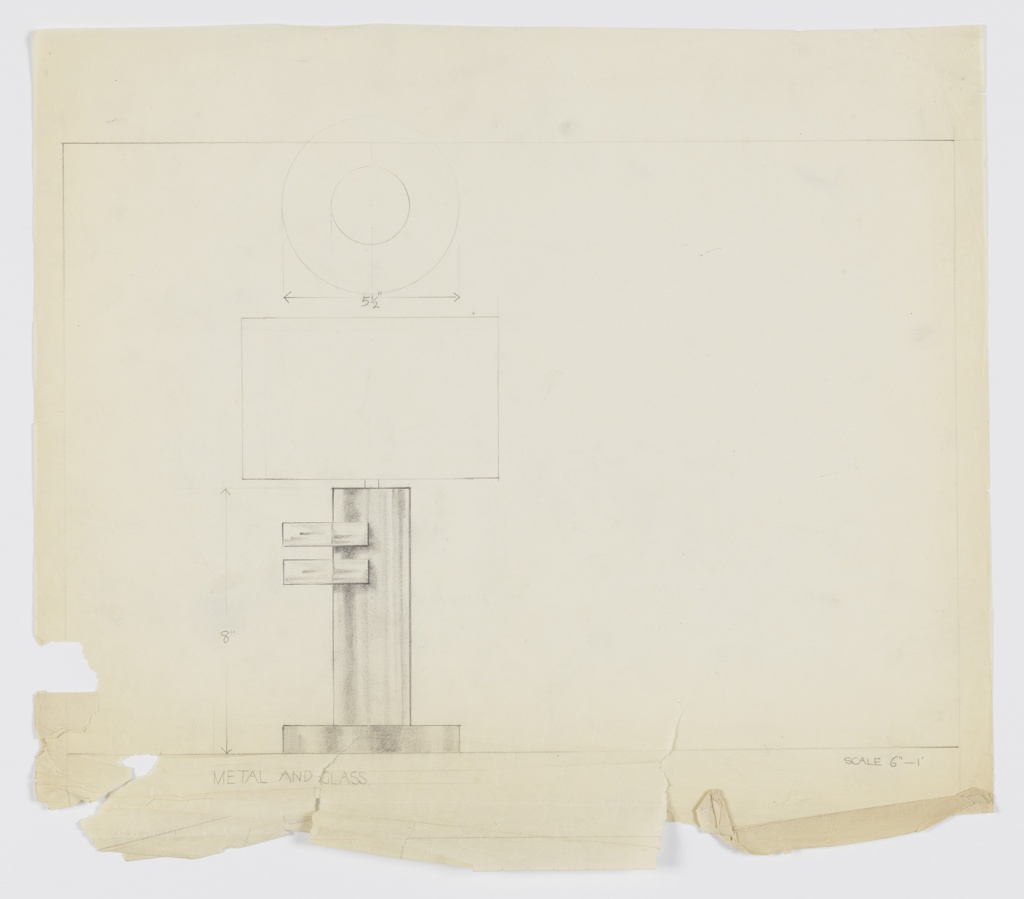 Drawing, Design for Table Lamp