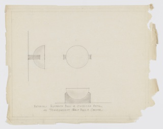 Drawing, Design for Semispherical Drawer Pull