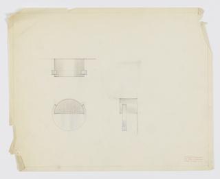Drawing, Design for Circular, Bichrome Drawer Knob