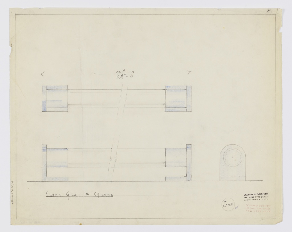 Drawing, Design for Drawer Pull