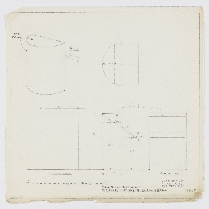 Drawing, Design for Music Stand, International Casino, New York, NY