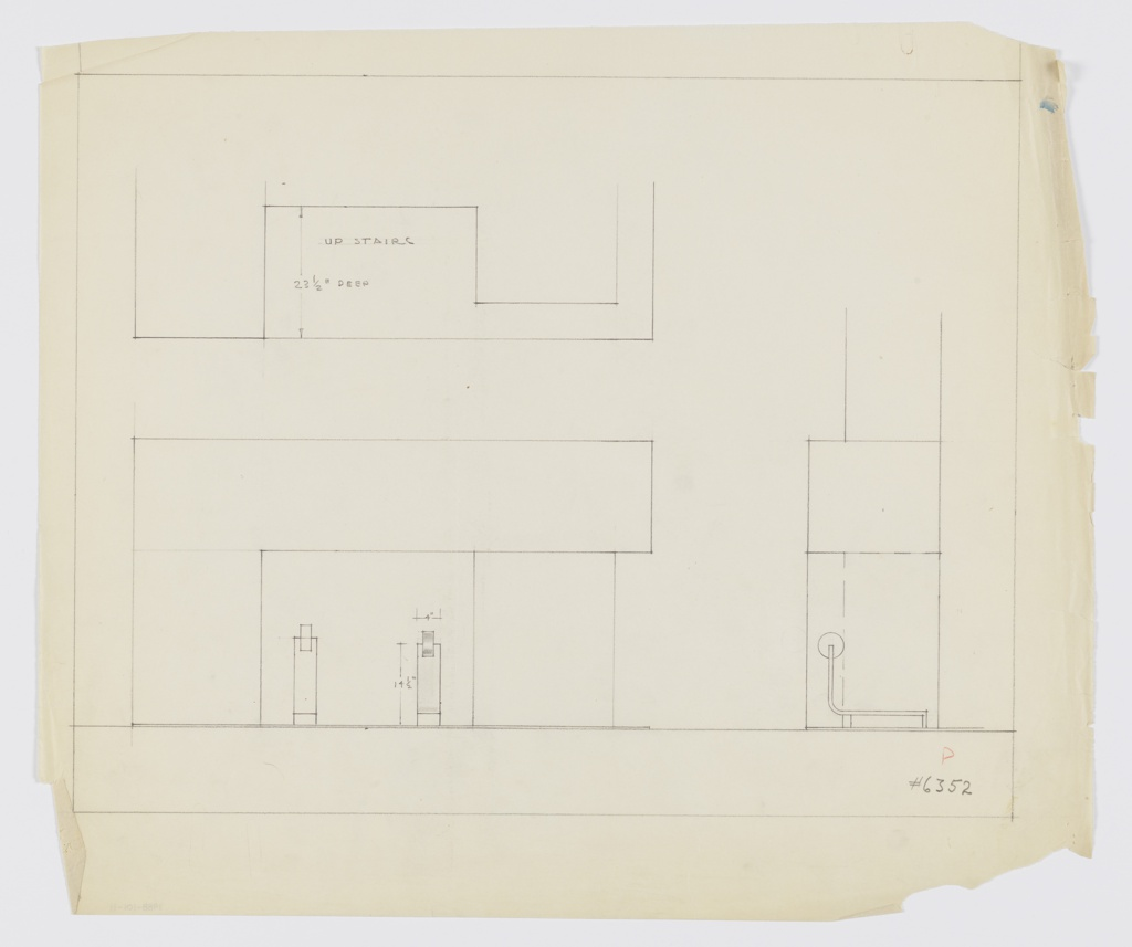 Drawing, Design for Andirons in Fireplace