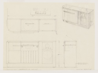 Drawing, Design for a Radio Cabinet