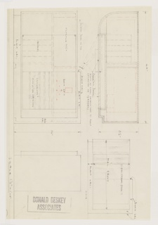 Drawing, Design for Radio and Phonograph Cabinet