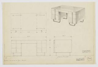 Drawing, Design for Desk, 1929–1934