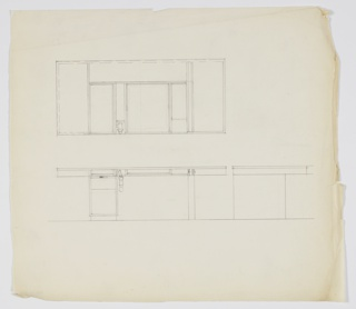Drawing, Design for Vanity or Desk, ca. 1934