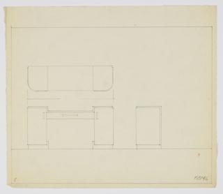Drawing, Design for Desk, ca. 1934