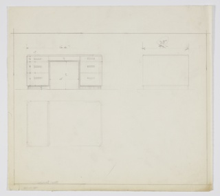 Drawing, Design for Desk, ca. 1934